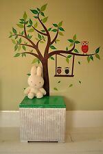 Green & White Adults & Childrens Lloyd Loom Linen/Blanket/Storage Toy Box