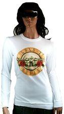 Rare AMPLIFIED GUNS N'ROSES Logo Rock Star Vintage Sweater Langarm T-Shirt M 40