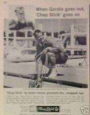 1965 Gordie Howe Detroit Red Wings Hockey Vintage Photo Promo Trade Print AD
