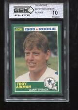 TROY AIKMAN RC 1989 SCORE #279 COWBOYS ROOKIE GEM ELITE 10 PRISTINE