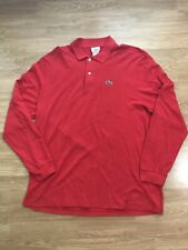 Vtg Haymaker Lacoste L/S Polo Tennis Shirt Sz 7 Xl Mens Made in USA