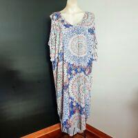 Women's size M/L 'BOHO AUSTRALIA' Stunning mandala cold shoulder maxi dress