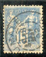 BELLE OBLITERATION / TIMBRE FRANCE TYPE SAGE / OBLITERATION ALGERIE N° 90