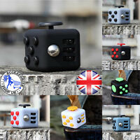 Fun Fidget 6 Sided Cube Adult Anxiety Stress Relief Cube Toys Colours Gift Cubes