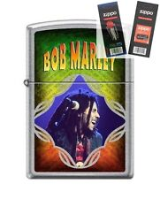 Zippo 8275 Bob Marley Lighter with *FLINT & WICK GIFT SET*