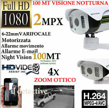 TELECAMERA ESTERNA IP CAMERA HD 1080p WIRELESS IR MOTORIZZATA WIFI VARIFOCALE