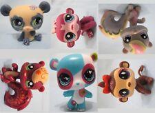 Littlest Pet Shop RANDOM Lot of 3 Panda Squirrel Monkey Pet Figures SURPRISE!