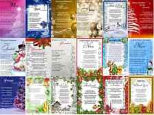 CHRISTMAS LAMINATED REMEMBRANCE/GRAVE/MEMORIAL/BEREAVEMENT CARDS (ALL FAMILY)