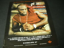Joe My Name Is Joe with All That I Am 2000 Promo Poster Ad mint condition