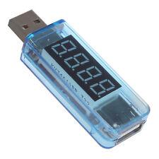 Blue Digital LCD USB Voltmeter Ammeter Current Voltage Meter Charging Detector
