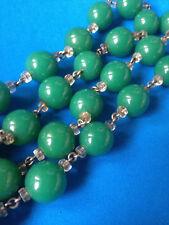 Vintage Collier Vert Perles de Verre MURANO / Glass Beads Necklace