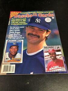 April 1989  Baseball Cards Magazine 6 Card Insert  Boggs Molitor Schmidt MINT