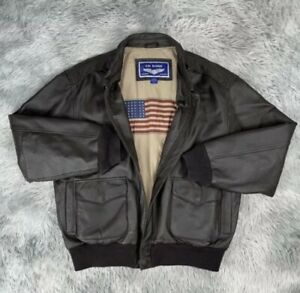 Rare WWII U.S Air Force  Leather Flight Bomber Jacket Airborne Leathers Sz L