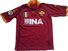 Maglia Roma Totti 2001 2002 Scudetto Kappa Ufficiale Kombat (L) home Jersey