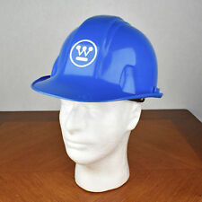Vintage Blue Norton Hardhat Model 410 Westinghouse Electric Corp Advertising