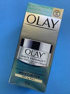 Olay white radiance light perfecting day cream SPF 24 moisturizer 12 g 1A