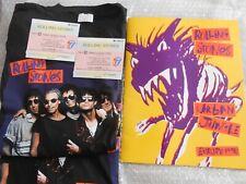Rolling Stones urban jungle 1990   2 large tee shirts  . 2 tickets  program  lot
