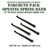 US MILITARY T-10 PARACHUTE OPEN SPRING BAND BUNGEE SET of 4 SOCOM DEVGRU MARSOC
