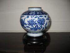 Ancien vase en porcelaine de Chine bleu blanc -  XIXème (réf:311)