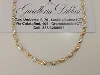 Collana in oro giallo e oro bianco (bicolore) 18kt 750% Made in Italy