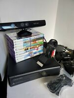 Xbox 360 Bundle and with Kinect game lot (9 games and 2 controllers) please read