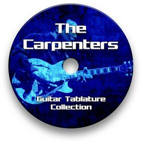 The Carpenters Pop Rock Guitar Tab Tablature Lesson Software CD - Guitar Pro