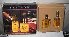#8816 Vintage Coty Stetson Giftset Cologne Spray .75 fl oz After Shave 1.0 fl oz