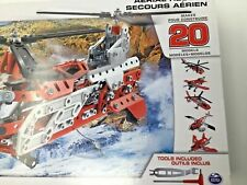 Meccano Maker System~Aerial Rescue~Nip~Makes 20 Different Models~Tools Included~