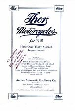 1915 THOR MOTORCYCLE SALES BROCHURE IN .PDF FORMAT ON CD ANTIQUE REPRODUCTION
