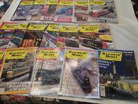 Lot of 17 Issues  Railroad Modeler Trains Magazine 2002 - 2003 Craftsman