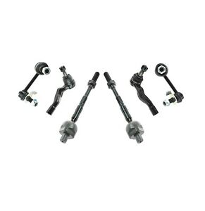 Front Inner Outer Tie Rods Sway Bar Kit For Nissan 350Z 03-09 Infiniti G35 03-07