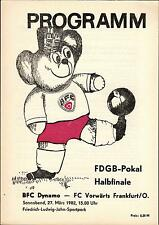 FDGB-Pokal Halbfinale 81/82 BFC Dynamo - FC Vorwärts Frankfurt, 27.03.1982