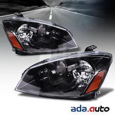 For 2005-2006 Nissan Altima Sedan (S/SE/SL Models) Black Headlights Headlamp Set
