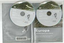 ORIGINALE AUDI RNS-E 2004-2009 Disco di navigazione DVD NAVIGATORE SATELLITARE MAPPA 2011 Full Set 2 CD