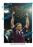 8x6 PHOTO GORDEN TALLIS 2002 QLD STATE OF ORIGIN SERIES WIN PHOTO