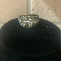 "Heidi Daus ""Everyday Elegance"" Crystal Ring Size 8"