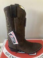 Justin 2253 Men's Bay Apache Cowboy Western Dress Boots Size 10.5EE (RRP$429)