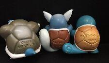 Squirtle Wartortle Blastoise NINTENDO TOMY Vintage Paquete de 3 Figuras de Juguete Pokemon Go