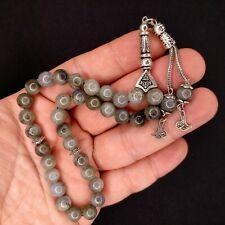 More details for labradorite worry beads genuine gemstone tasbih tesbih prayer subha 165