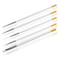 Nageldesign Pinsel Set Gelpinsel Fineliner Schlepperpinsel Nail Art 5 Teile