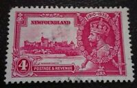 Newfoundland:1935 King George V`Silver Jubilee 4C Rare & Collectible Stamp.