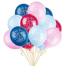 2 Ans Vieux Bébé Fête Bleu Ballons 2ème Anniversaire Rose Confettis Rempli