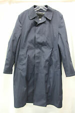 London Fog Maincoats Women and Mens Navy Blue Trench Coat Excellent Used Cond