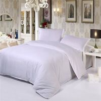 Cotton White Duvet Quilt Cover Set Queen/King/Single Size Bed New Doona Covers