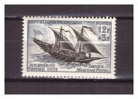 S24583) France 1957 MNH New Stamp Day 1v Sail Ship