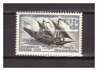 s24583) FRANCE 1957 MNH** Nuovi** Stamp Day 1v sail ship