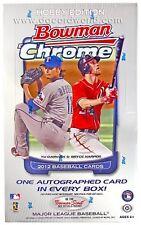 2012 Bowman Chrome Baseball Factory Sealed Hobby Box