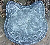 """Cat face plaque mold 10"""" x 9.5"""" x 3/4"""" thick plaster concrete casting mould"""