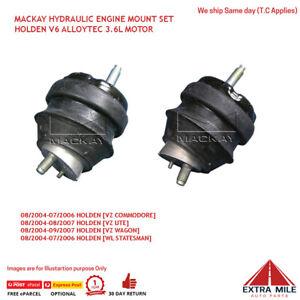 MACKAY HYDRAULIC ENGINE MOUNT PAIR V6 ALLOYTEC 3.6L [HOLDEN VZ COMMODORE & UTE]