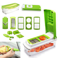 12 Pcs Nicer Dicer Kitchen Tools Fruit Vegetable Slicer Cutting Grater Peeler